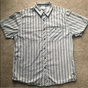The North Face Striped Button Up Pocket Aztec